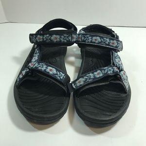 Teva Sport Sandals Womens 10 Blue White Flowers